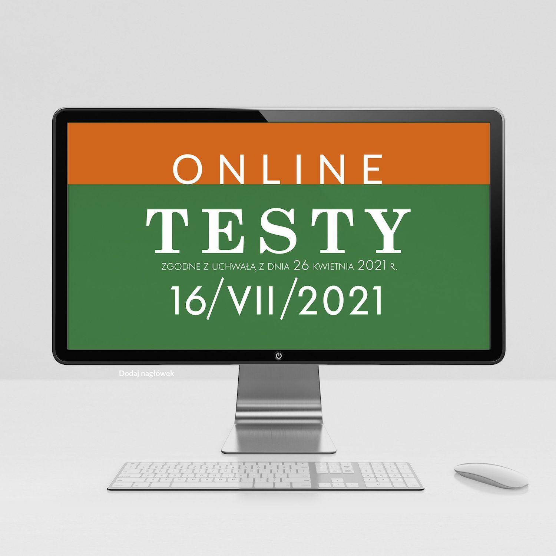 Testy na doradcę podatkowego zgodne z uchwałą 16/VII/2021 aktualizacja